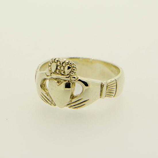 9ct Yellow 100 Year Claddagh Ring